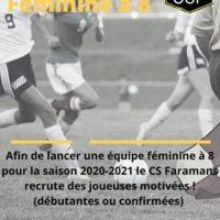 CS FARAMANS Féminines à 8