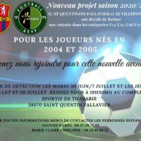 L ' Entente OSQ ST QUENTIN / AS VILLEFONTAINE recrute des joueurs U16 / U17